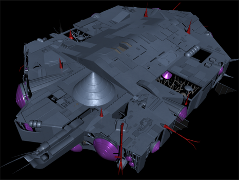 Robotech Masters' Mothership Top View by bioscythe2