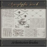 lace texture brushes part 1 by AzurylipfesStock