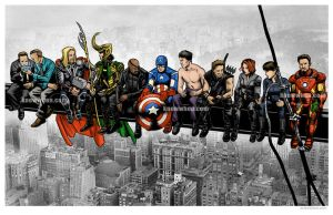 Avengers Over New York by nguy0699