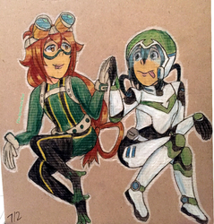 Pidge x Tsuyu (crossover) by TheApatheticKat