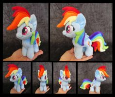 #003b - Rainbow Dash Mini by fireflytwinkletoes