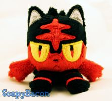 Litten Pokemon Plush Beanie by TheHarley