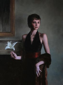 Girl With Lily. 2008. by evincent