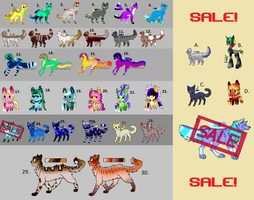OPEN 29/35 ADOPTABLES SUMMARY SEPTEMBER by PurpleFire-Adopts
