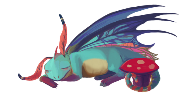 Sleeping Brightwing by Madkazer