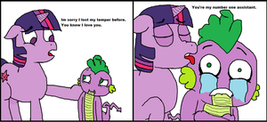 Spike is Twilights number one assistant by Spikandfrends