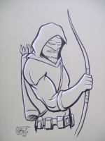 Green Arrow con sketch by SethWolfshorndl