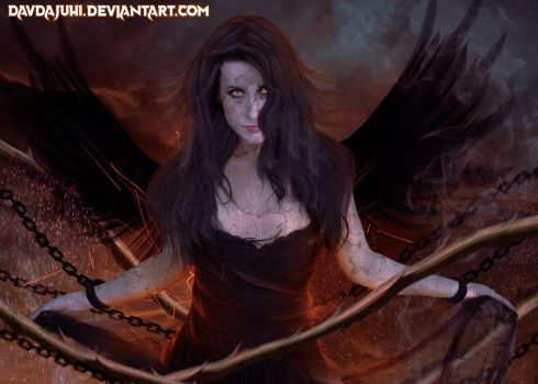 The Fire Within Her by davdajuhi