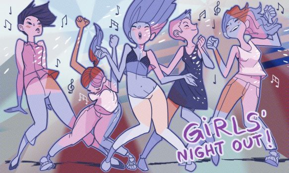 Girls' Night Out by mendigo-amigo