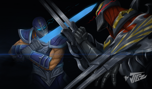 ZED vs SHEN into the darkness by JIGGERNUTS