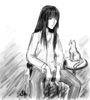 Kanda and a cat by im-nati