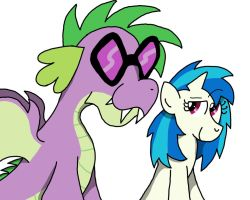 Spike and Vinyl Scratch by Numbuh-27