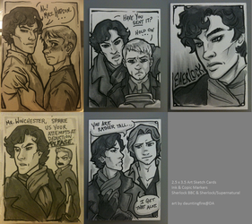 Sherlock + Supernatural Cards by dauntingfire