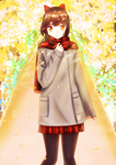 girl with red scarf by BTsumia