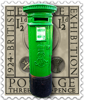 Steampunk Eric Gill Irish Postbox Icon Perforated by yereverluvinuncleber