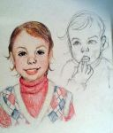 Portrait of a baby sibling by 17cherry