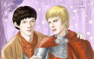 Merlin and Arthur by Autumn-Sacura