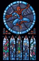 Spiderman Stained Glass Window by nenuiel