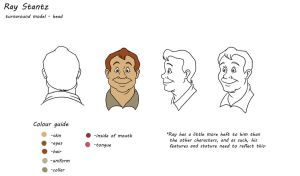 Real Ghostbusters model sheet: Ray Stantz by TDotBabs