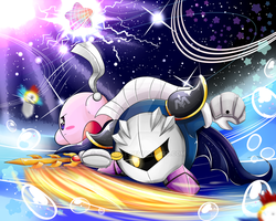 Magolor battle: Meta knight perspective by Catakat