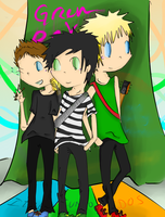 Green Day~ C: by chibi-badtz-bad-maru