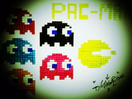 PACman and the ghosts by SilvarEnO