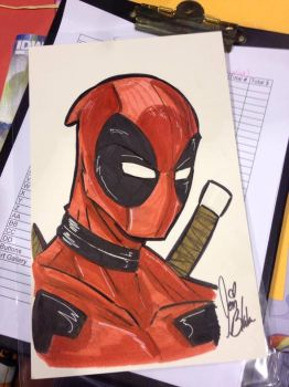 Deadpool Bust Commission by PonyGoddess