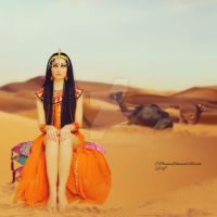 Cleopatra and her Camels by cherie-stenson