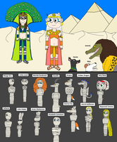 Egyptian Margo before her mummification 2 by PeteDRaptor