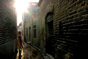 Alley in Punjab, India by Lsharma