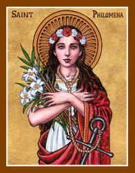 St. Philomena icon by Theophilia