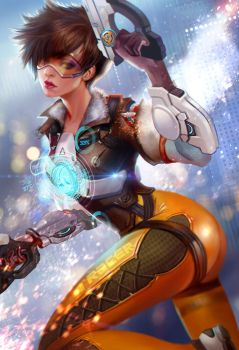 Tracer from Overwatch by jiuge