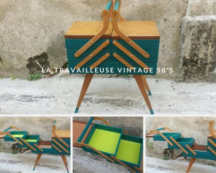 Vintage sewing box from 50's by Zengia