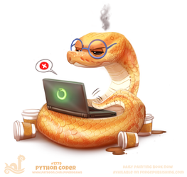 Daily Paint 1779# Python Coder by Cryptid-Creations