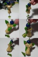 Leafeon Oran Berry Charm by ChibiSilverWings