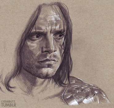 The Man on the Bridge - CA: The Winter Soldier by Girl-on-the-Moon