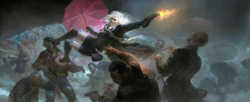 Umbrella operation by timens