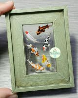 Green Picture  Frame Koi Pond by PepperTreeArt