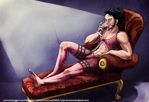 Mihawk in Lingerie now! by UnusualJuggernaut
