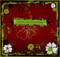 Grunge floral frame by coolwing