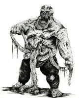 Obese Zombie by WretchedSpawn2012