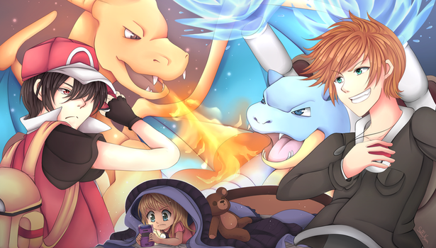 +Pkmn+ The greatest fight of my childhood by Sallynyan