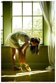 Tying Pointe Shoes by ApplesauceJoce