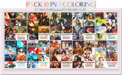Pack 10 PSD Coloring by akiochan5302