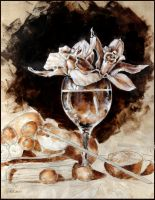 Orchids in a vine glass II by drvghost