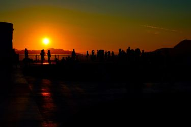 Sunset at the Griffith observatory by jziani