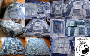 Jean Pocket Graduation Quilt by SmilingMoonCreations