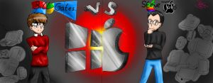 Steve Jobs vs Bill Gates anime by tetokasane-04