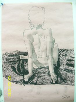 charcol lifedrawing by Jodies-Baps