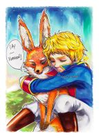 Le petit Prince and The Fox by Belikat